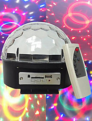mp3 voix diamants boule de cristal lecteur mp3 voix automoteur 3w * perles de lampe 6LED six couleurs tension large