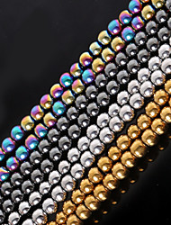 baratos -Jóias DIY Pedra Dourado Preto Prata M Forma redonda Bead faça você mesmo Colar Pulseiras