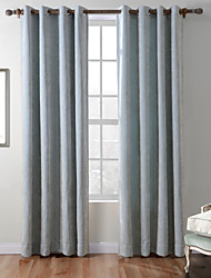 cheap -Rod Pocket Grommet Top Tab Top Double Pleat One Panel Curtain Country Modern Mediterranean Baroque European Designer , Jacquard Stripe