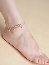 cheap -Pearl - Women's Screen Color Tassel Vintage Cute Party Work Casual Multi Layer Pearl Alloy Anklet For Daily