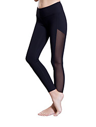 cheap -Queen Yoga Women's Gym Leggings Running Tights Breathable Compression Lightweight Materials Stretch Sweat-wicking 3/4 Tights Bottoms Yoga