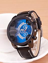 baratos -Oulm Homens Relógio Esportivo / Relógio de Pulso Relógio Esportivo PU Banda Amuleto Preta / Marrom / KC 377A