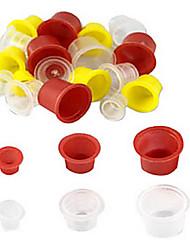 250 ks mísí tetovací inkoust poháry (malý-100 středně-100 velký-50) náhodné barvy