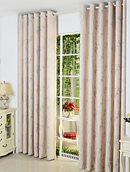 Rod Pocket Grommet Top Tab Top Double Pleated Two Panels Curtain Country Living Room Poly / Cotton Blend Material Curtains Drapes Home
