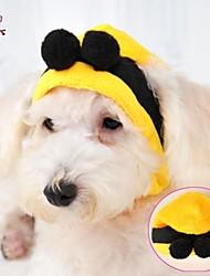 Недорогие -Кошка Собака Костюмы Инвентарь Платки и шапочки Одежда для собак Косплей Свадьба Хэллоуин Желтый Костюм Для домашних животных