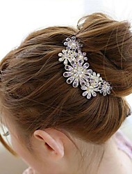 cheap -south korea high grade ornaments in combs hair clasp diamond pearl twist purple flower