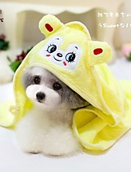 Недорогие -Собака Полотенца Салфетки Компактность Косплей Желтый Зеленый Синий Розовый
