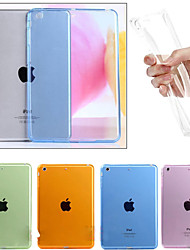 billige -Etui Til Apple iPad Mini 4 iPad Mini 3/2/1 iPad 4/3/2 iPad Air 2 iPad Air Transparent Bagcover Helfarve Blødt TPU for iPad Mini 4 iPad