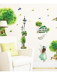 Rural Village Green Beauty Decorative Wall Stickers