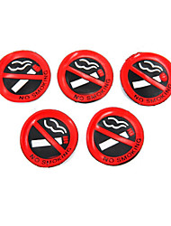 cheap -5 Pcs Soft Plastic No Smoking Sign Wall Window Car Sticker Decal