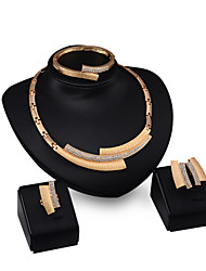 cheap -Women's Jewelry Set Jewelry Set - Cubic Zirconia, 18K Gold Plated Gold