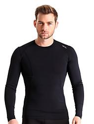 Homens Camiseta de Corrida Manga Longa Térmico/Quente Secagem Rápida Isolado Respirável Compressão Materiais Leves Elástico camadas de