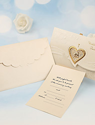 cheap -Tri-Fold Wedding Invitations 50-Invitation Cards Pearl Paper