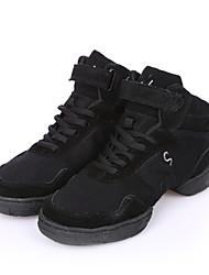 Damen Tanz-Turnschuh Leinwand Sneakers Im Freien Flach Schwarz 2,5 - 4,5 cm Maßfertigung