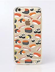 Недорогие -Назначение iPhone X iPhone 8 iPhone 6 iPhone 6 Plus Чехлы панели Прозрачный С узором Задняя крышка Кейс для Продукты питания Мягкий
