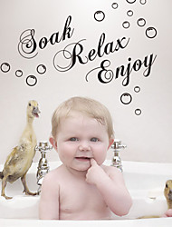 cheap -Wall Stickers Wall Decals Style Soak Relax Enjoy English Words & Quotes PVC Wall Stickers