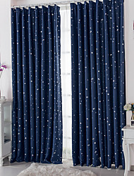 cheap -Blackout Curtains Drapes Living Room Polka Dot Polyester Print