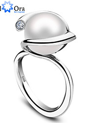 2015 High Quality Fashion Luxury Women Wedding Jewelry 925 Sterling Silver Natural Fresh Water Pearl Ring