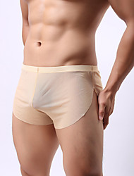 cheap -Men's Fabric Mens Underwear Transparent gauze Men's underwear perspective