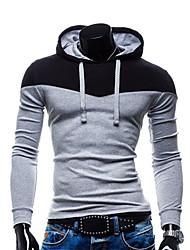 Herren Freizeit / Büro / Formal / Sport Activewear Sets  -  Einfarbig Lang Baumwollmischung