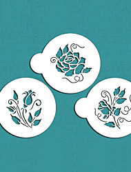 Roses are Red Cookie Stencil,Floral Cake Stencil,Rose Fondant Stencil Tool,Tool kit Cake Decorating,ST-582