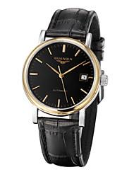 ieftine -guanqin bărbați ceas automat de auto-lichidare ceas 100m calendar impermeabil oțel safir cristal și din piele 38.5mm