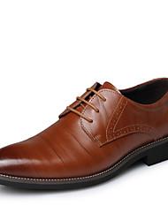 povoljno -Muškarci Cipele Koža Proljeće / Jesen / Zima Udobne cipele / svečane cipele Oksfordice Crn / Braon / Kožne cipele / Svečane cipele