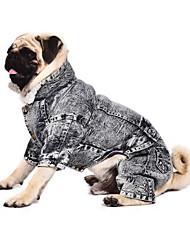 Hunde Overall Jeansjacken Grau Hundekleidung Winter Frühling/Herbst Jeans Modisch Cowboy