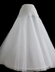 Cérémonie de mariage Déshabillés Nylon Filet de tulle Mollet Robe trapèze Avec Teint