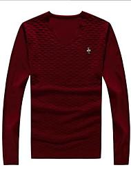 billige -Herre Simple Pullover - Ensfarvet