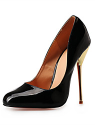 cheap -Women's Shoes Leatherette Spring Fall Stiletto Heel for Party & Evening Black Red Nude
