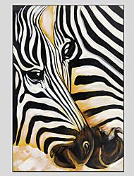 povoljno -Ručno oslikana Životinje Vertikalno, Europska Style Moderna Platno Hang oslikana uljanim bojama Početna Dekoracija Jedna ploha