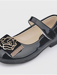 baratos -Para Meninas Sapatos Courino Primavera Outono Rasos Salto Robusto para Casual Coral Preto Rosa