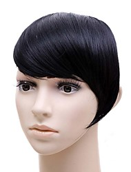 High Temperature Silk Wig Inclined Black Bang Wig Bang wholesale