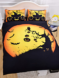 2015 Hot Halloween Bedding Set Funny Gift 3D Print Bedlinen Soft Duvet Cover Set 3pcs Or 4pcs Twin Queen King