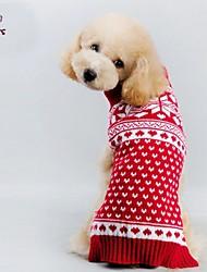 abordables -Gato Perro Abrigos Suéteres Ropa para Perro Corazón Rojo Material Mixto Disfraz Para mascotas Hombre Mujer Cosplay Navidad