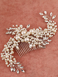 cheap -Imitation Pearl Rhinestone Hair Combs 1 Wedding Special Occasion Headpiece