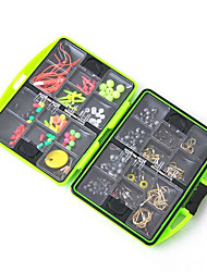 cheap -Fishing Accessories Box Surf Casting Fishing Tackle Box Swivel Jig Hook Sinker Floating Beads Fishing Tools Set