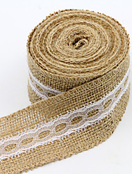 cheap -Solid Color Jute Wedding Ribbons - 1 Piece/Set Weaving Ribbon Gift Bow Decorate favor holder Decorate gift box Decorate wedding scene