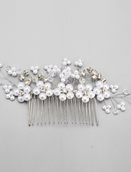 Crystal Imitation Pearl Rhinestone Alloy Hair Combs Headpiece