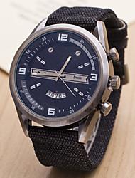 abordables -Homme Montre Bracelet Quartz Calendrier Montre de Sport Suisse Designers Nylon Bande Charme Noir Bleu Marron Vert Violet