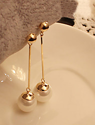 Drop Earrings Pearl Imitation Pearl Alloy White Jewelry Party Daily Casual