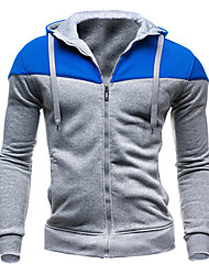 cheap -Men's Long Sleeve Hoodie & Sweatshirt , Cotton Blend Pure