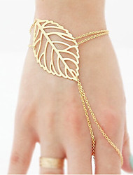 Women Fashion Bracelet European Style Leaf Ring Bracelet