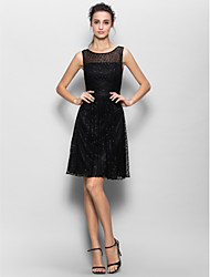 Lace Black Dress Knee Length - Lightinthebox.com