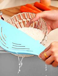 Недорогие -чтобы не повредить руки мыть риса сито кухонную случайный цвет