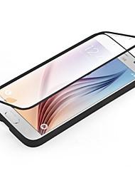 رخيصةأون -غطاء من أجل Samsung Galaxy حالة سامسونج غالاكسي شفاف غطاء كامل للجسم لون سادة TPU إلى S6