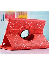 nueva llegada de la venta caliente de la flor de la moda 360 gire pu dormir cubierta de cuero de auto / despierta para Mini iPad 3/2/1