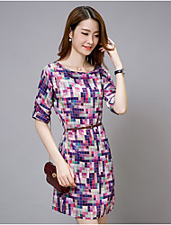 cheap -Women's Classic & Timeless Chiffon Dress Flower Print