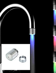 cheap -Colorful LED Light Water Glow Faucet Tap Head Home Bathroom Decoration Water Tap